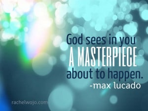 Quote from Max Lucado's book- Grace. Incredible book! If I tell myself ...