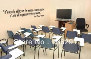 wall decals football quotes inspirational