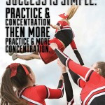 The formula for success is simple: practice & concentration then more ...