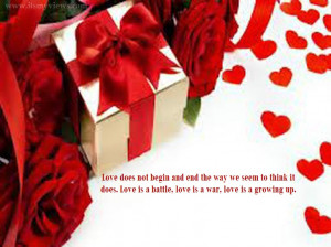 Red Rose Heart Love Quotes