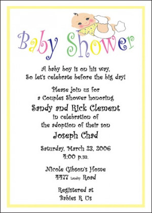 Baby and Infant Shower Adoption Invitation areBecoming Very Popular!