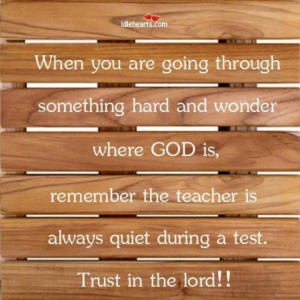 God is always with us!!