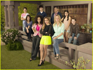 the fosters jennifer lopez executive producer and the cast of the the ...