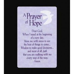 Pocket Card Bookmark – A Prayer of Hope