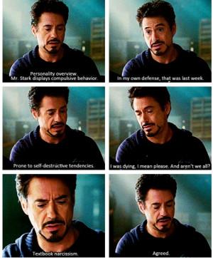 Tony Stark's personality profile