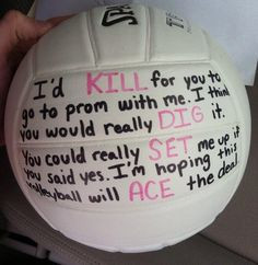 Asking a volleyball player to prom More