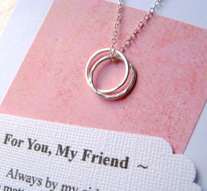 Broken Friendship Poems Best Friends Friendship necklace with poem
