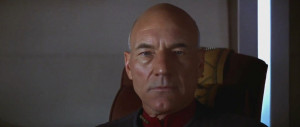 Patrick Stewart as Captain Jean-Luc Picard in Star Trek - First ...