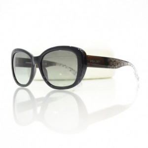 Home Sunglasses Coach Coach Bernice Black Crystal Sunglasses