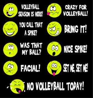 Long Sleeve Volleyball Emoticons Shirt is 100% Pre-shrunk Cotton ...