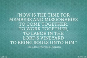 Quote by Thomas S. Monson, LDS General Conference, October 2013.