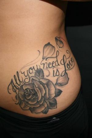 rose tattoos on thigh hip rose tattoos rose tattoos on thigh on thigh ...
