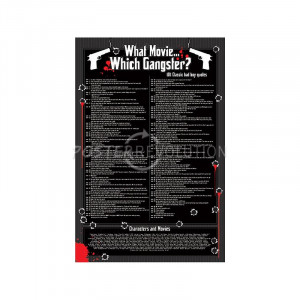 What Movie, Which Gangster? Movie (Movie Quotes) Poster Print - 24x36