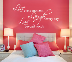 Live, Laugh, Love Wall Quote