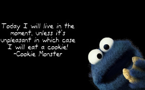 Cookie Monster quote wallpaper