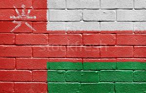 Stockfresh gt Stock photo gt Flag of Oman on brick wall stock photo