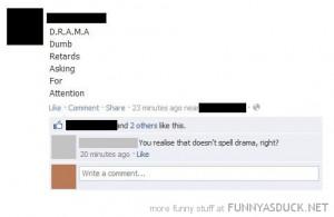 Drama Facebook Status Statuses