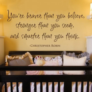Braver Stronger Smarter Winnie The Pooh Quote Decal | eBayChild Room ...