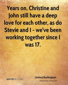 Years on, Christine and John still have a deep love for each other, as ...