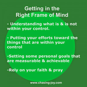 How do you get in the right frame of mind before new ventures and ...