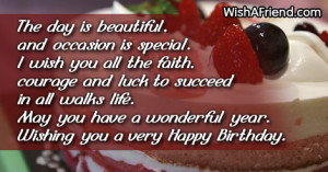 Birthday Wishes For Women I wish you all the faith,