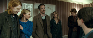 David Thewlis, Domnhall Gleeson, Natalia Tena, Clemence Poesy in Harry ...