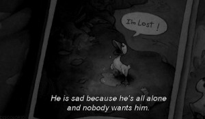 Sad Stitch Quotes He is sad because he's all