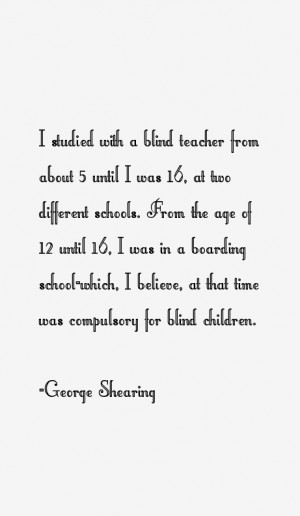 George Shearing Quotes amp Sayings