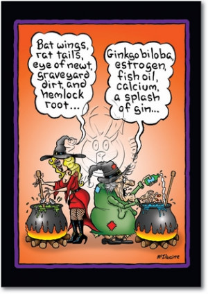 Witch Brew Naughty Humorous Halloween Paper Card Nobleworks