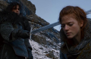 Jon Snow and Ygritte jon and ygritte