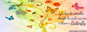 Butterfly quote timeline cover banner