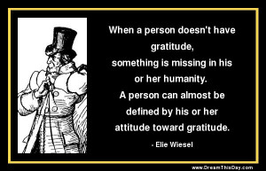 When a person doesn't have gratitude,