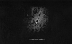 dark corner demons quotes alone grayscale 1280x800 wallpaper Art HD ...