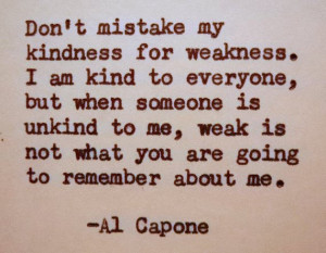 AL CAPONE Quote Typed on Typewriter