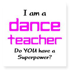 dance teacher Square Sticker 3