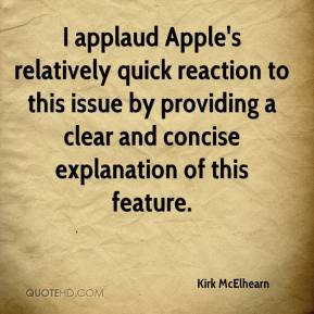 Kirk McElhearn - I applaud Apple's relatively quick reaction to this ...