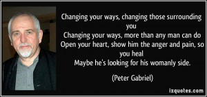 Changing Your Ways Quotes