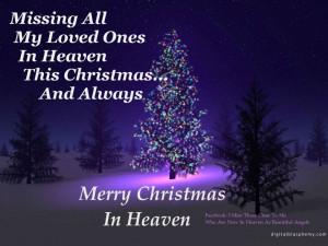 saturday s sayings christmas in heaven