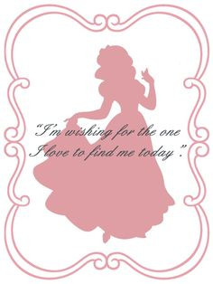 Snow White quote card More