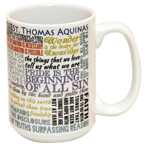 ST THOMAS AQUINAS QUOTES MUG