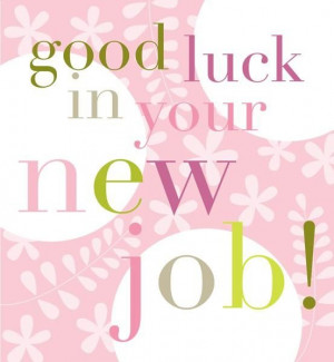 Good Luck In Your New Job Card - £2.50 - Happy Good Luck In Your New ...