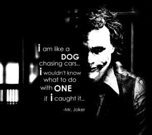Mr joker. Quote. Heath Ledger. Aussie