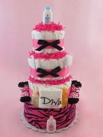 ... : http://www.theblueriverbabyshoppe.com/sassy-diva-diaper-cake/ Like