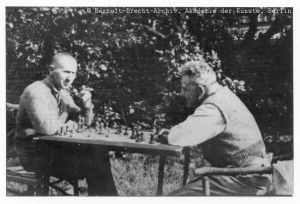 Bertolt Brecht and Walter Benjamin playing chess, Denmark ...