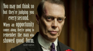 Nucky Thompson uit boardwalk empire