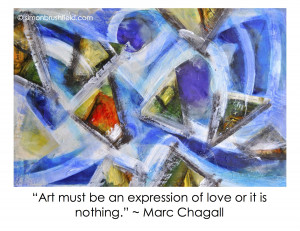 Dynamic Love painting by Simon Brushfield_Marc Chagall quote