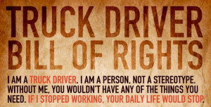 Infographic: Truck Driver Bill Of Rights | CDLLife