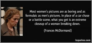 Most women's pictures are as boring and as formulaic as men's pictures ...