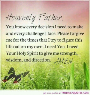 Prayer for guidance and strength