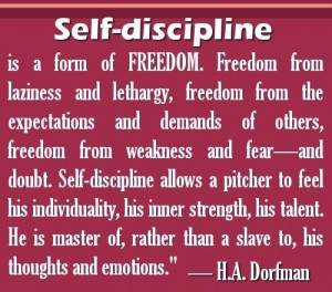 Self discipline quotes self discipline is a form of freedom freedom ...
